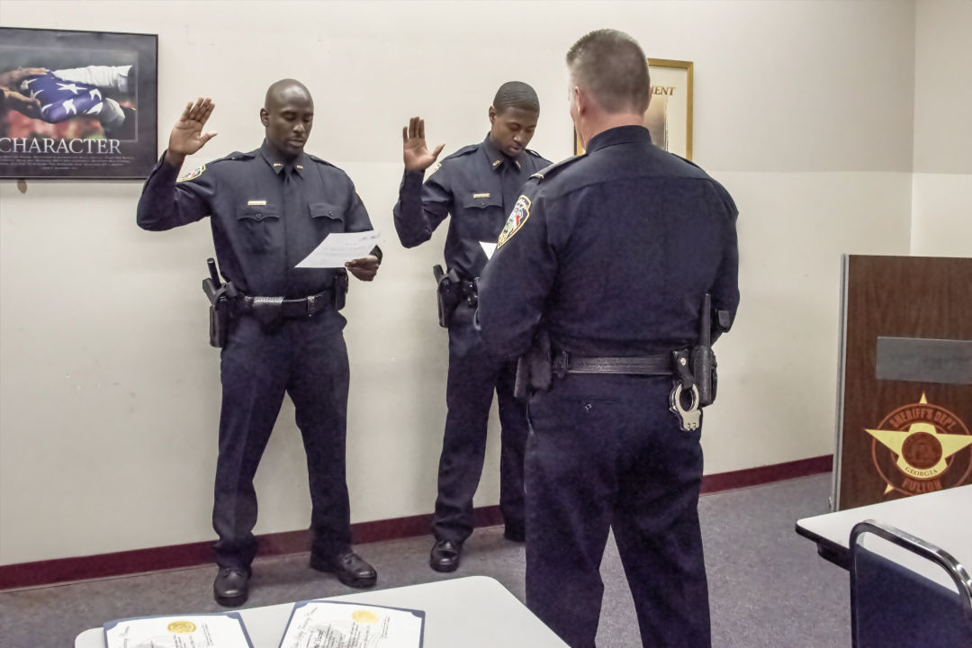 Officer Being Sworn in
