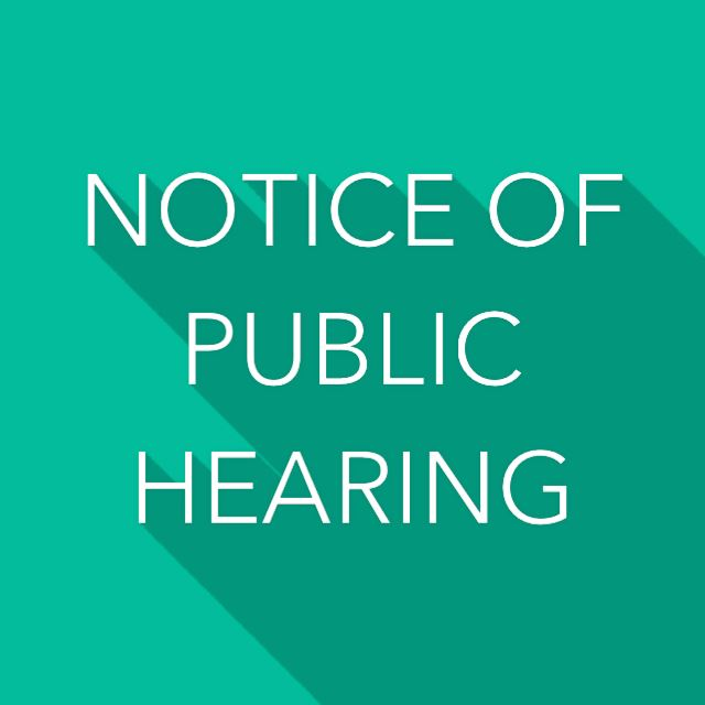 Notice of Public Hearing Sign