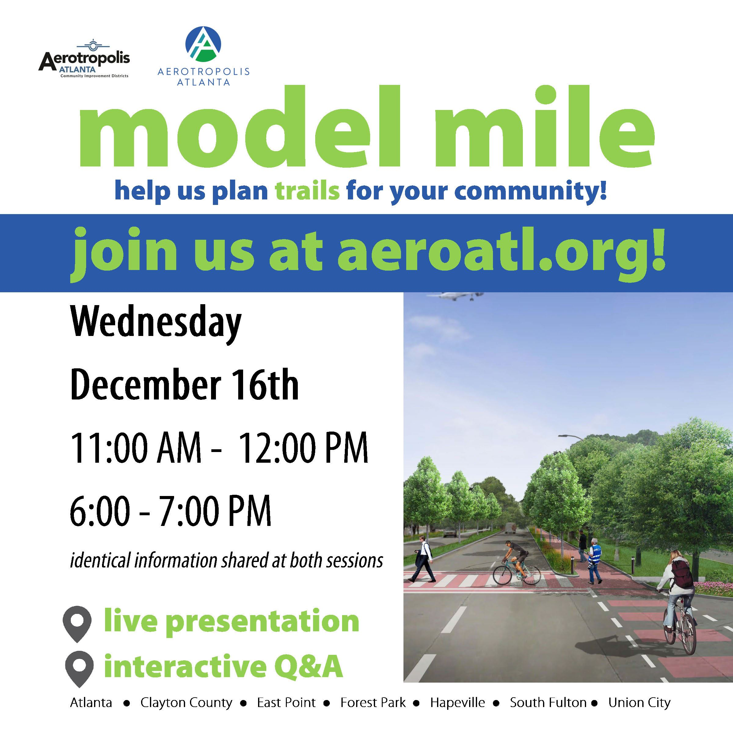 AeroATL Model Mile - Online Meeting Flyer